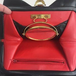 Lou Taylor VTG Ultra-Hyde Swivel Mirror Handbag